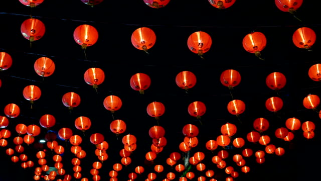 Chinese new year lanterns in china town. Chinese new year lanterns in china town in Bangkok. lantern stock videos & royalty-free footage