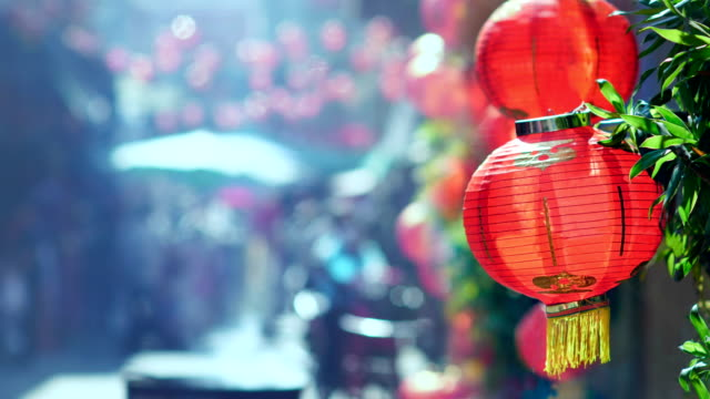 Chinese new year lanterns in china town . Chinese new year lanterns in china town . Joss paper is also burned in traditional Chinese funerals. chinese new year stock videos & royalty-free footage