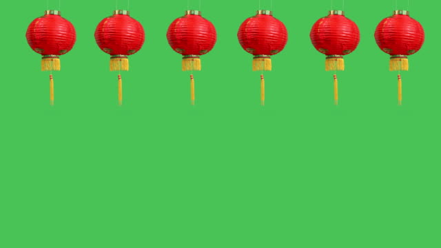 Chinese new year lanterns on green screen Chinese new year lanterns on green screen chinese new year stock videos & royalty-free footage