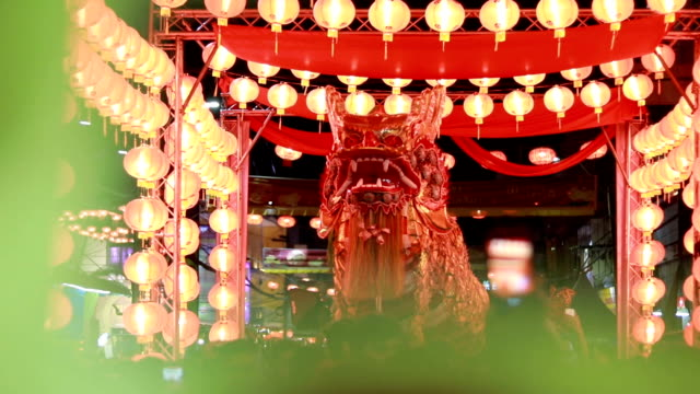 Chinese new year night celebration Chinese new year night celebration chinese new year stock videos & royalty-free footage