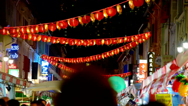 2018 Chinese new years in Singapore China Town and traveller enjoy traviling 2018 Chinese new years in Singapore China Town and traveller enjoy traviling chinese new year stock videos & royalty-free footage