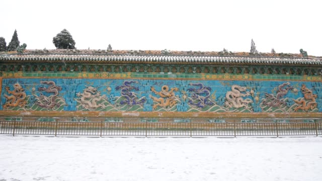 Chinese Nine Walls in the Snowflakes