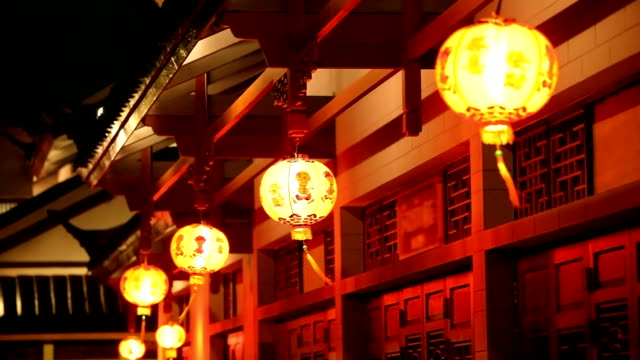 Chinese red lamp video