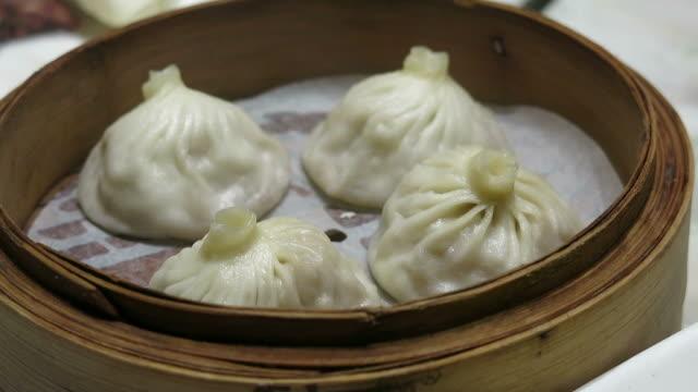 中国の蒸し饅頭 ビデオ