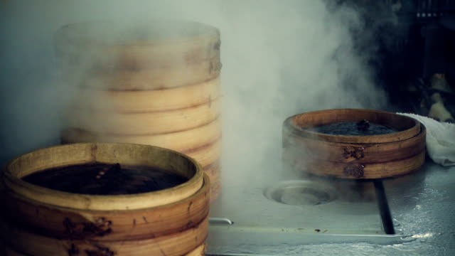 chinese steamed soup dumpling is real - chinese food stock videos and b-roll footage