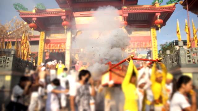 中国の通りパレードの行進 - 籠点の映像素材/bロール