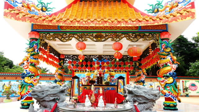 Chinese style shrine in Thailand video