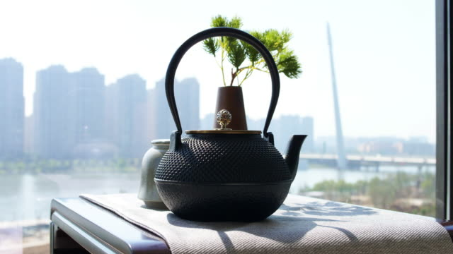 chinese teacup and teapot - teapot stock videos & royalty-free footage