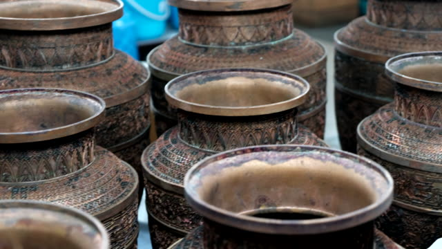 Chinese vase ceramics with ancient design , Beijing , China. video