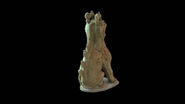 çince-mezar koruyucu chimera - heykel stok videoları ve detay görüntü çekimi