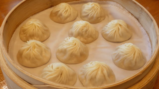Chinesse Food with Stream Pork Dumpling video
