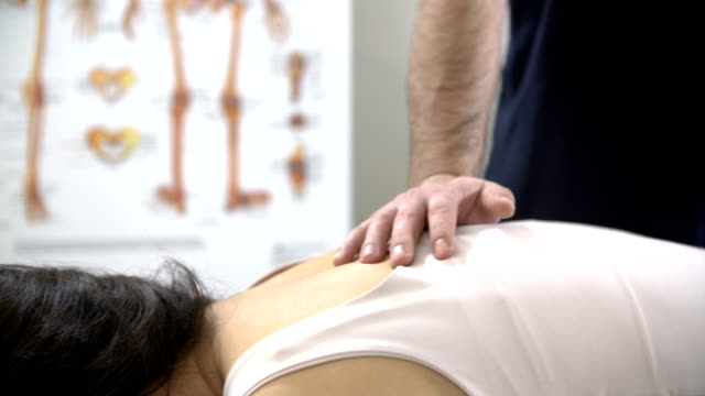 chiropractic massage - chiropractor stock videos & royalty-free footage
