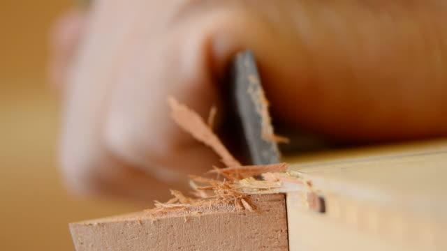 Chisel in action in close up video