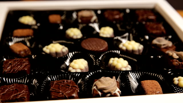 Chocolate candies collection video