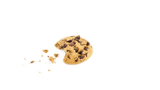 Chocolate chip cookie rotating video
