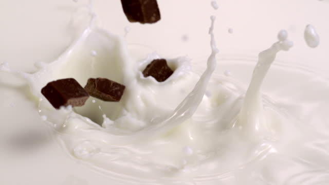 Chocolate in milk, Slow Motion video
