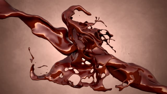 cioccolato splash - cioccolato video stock e b–roll