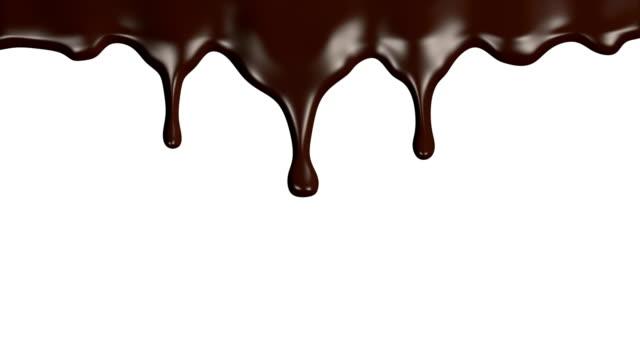 vídeos de stock, filmes e b-roll de fluxos de chocolate animação - chocolate