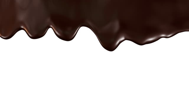chocolate streams animation - cioccolato video stock e b–roll
