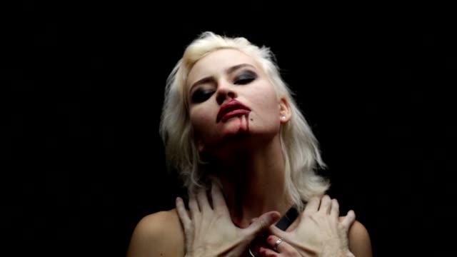 Choking blonde video