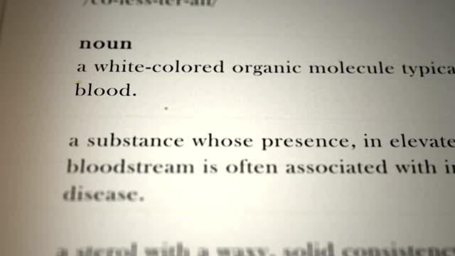 Cholesterol Definition video