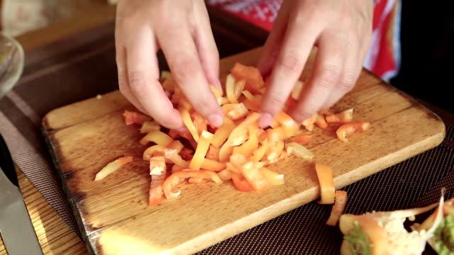 Chopped bell pepper video