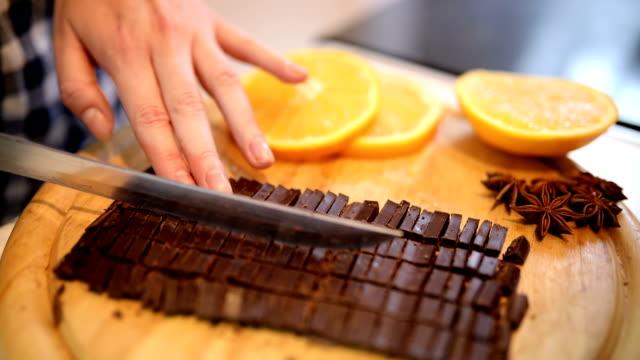 Chopping a Bar of Chocolate video