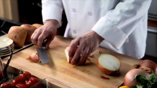Chopping an onion video