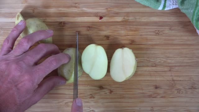 Chopping potatoes video