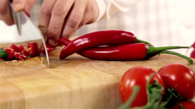 Chopping Red Chillies video