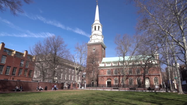 Christ Church in old downtown of Philadelphia video