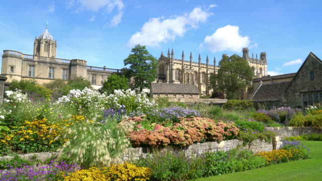 Christ Church with War Memorial Garden in Oxford, UK