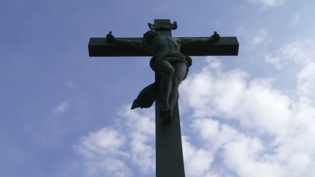 Christ Cross against Sky Time Lapse video