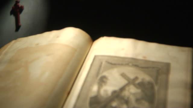christ cross tilt down hd - lithograph stock videos & royalty-free footage
