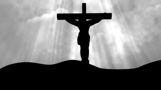 Christ on Cross Grey-Worship Loopable Background video