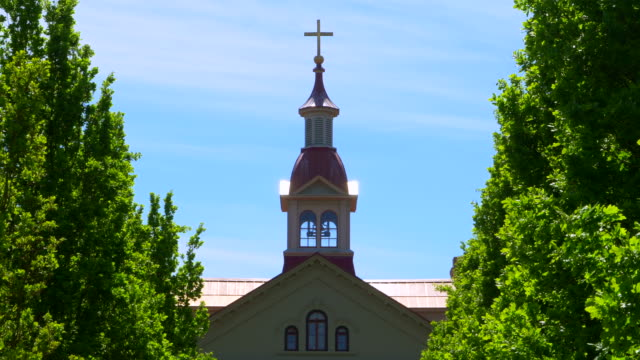 Christian Catholic Church Steeple Cross, Religious Symbol, Baroque Building video