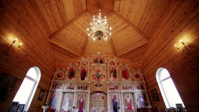 Christian church interior video