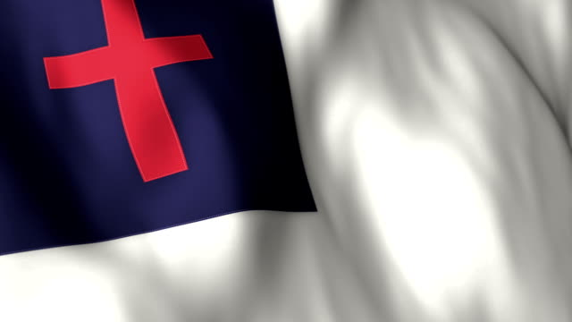 Christian Flag High Detail - Looping video