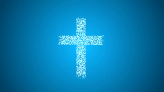 Christianity concept animation with alpha channel video