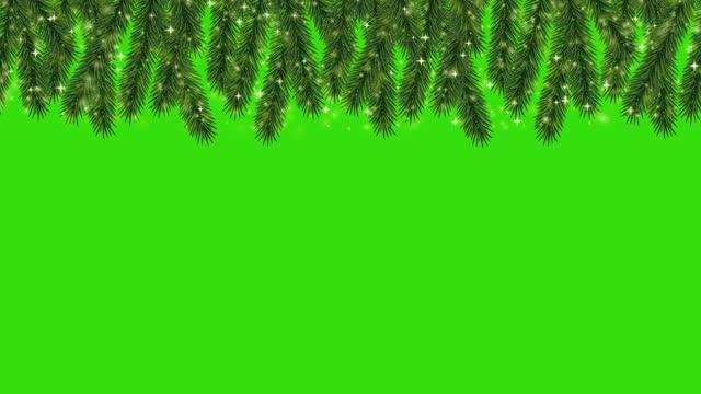 weihnachten und neujahr nahtlose horizonal looping grenze mit alpha-cannel - girlande dekoration stock-videos und b-roll-filmmaterial