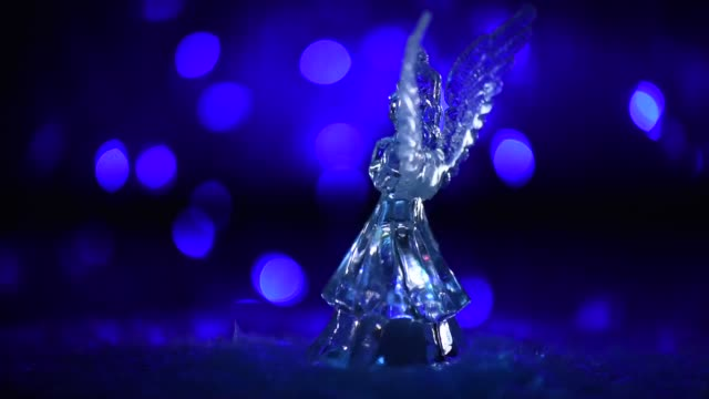 Christmas Angel in a holiday atmosphere Christmas Angel in a holiday atmosphere art and craft product stock videos & royalty-free footage