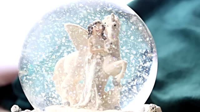 Christmas angel in glass video