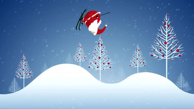 vídeos de stock e filmes b-roll de christmas animation loop. - christmas card
