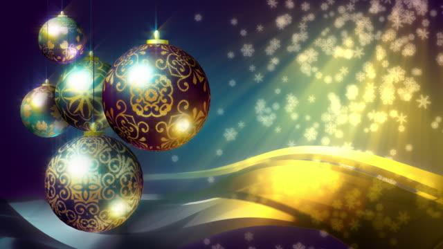 christmas background: black, gold, purple and teal. loopable. - blue yellow band bildbanksvideor och videomaterial från bakom kulisserna