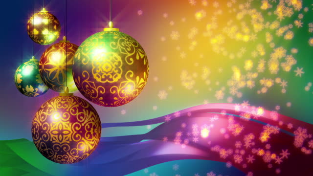 Christmas Background in bright colors. Loopable. video