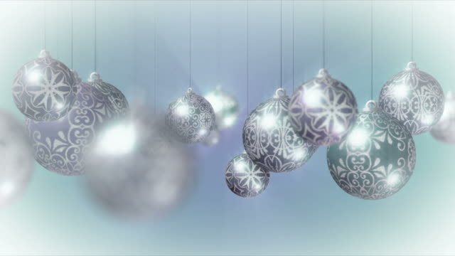 Christmas Background: Moving through Baubles. Loopable. video