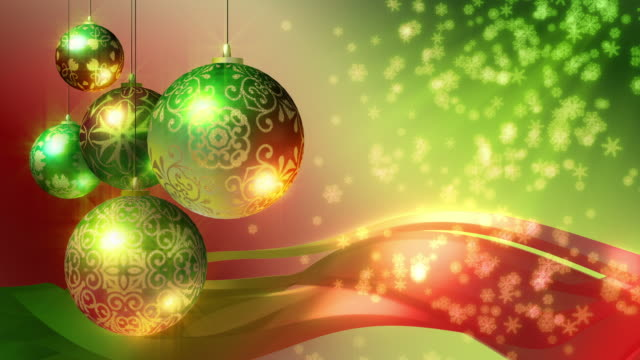 Christmas Background, red and green. Loopable. video