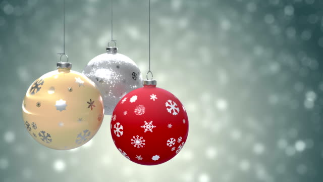 stockvideo's en b-roll-footage met christmas background - kerstballen