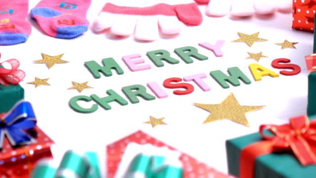 jul bakgrund med en presentask - blue yellow band bildbanksvideor och videomaterial från bakom kulisserna