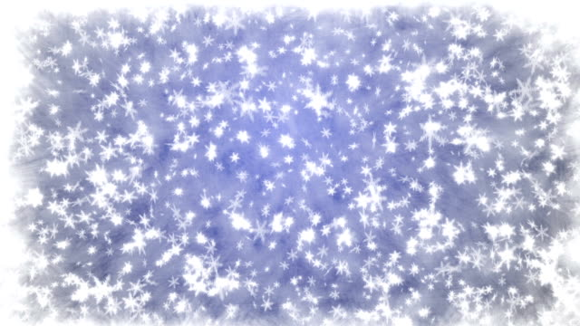 Christmas background with snowflakes - falling snow video
